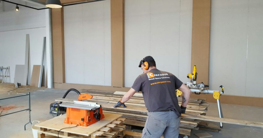 Construction with quality finishes for the Rivièra Maison shop in Zaandam
