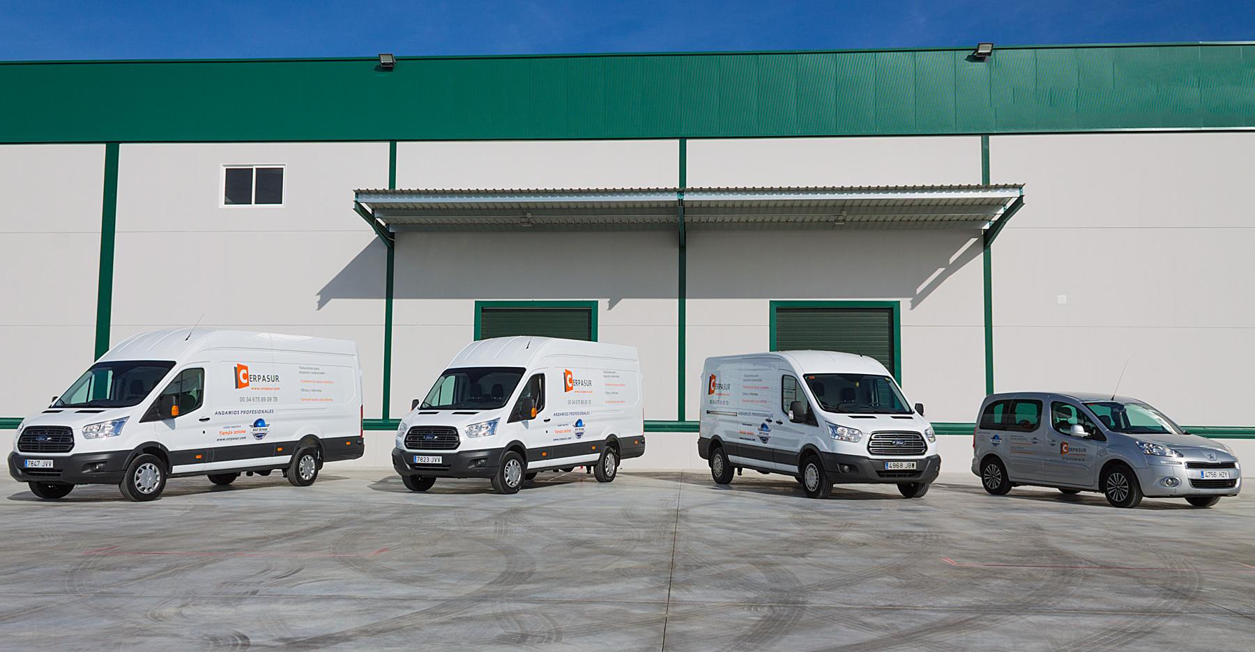 Flota de vehículos CERPASUR CONSTRUCCIONES Y SERVICIOS INTEGRALES